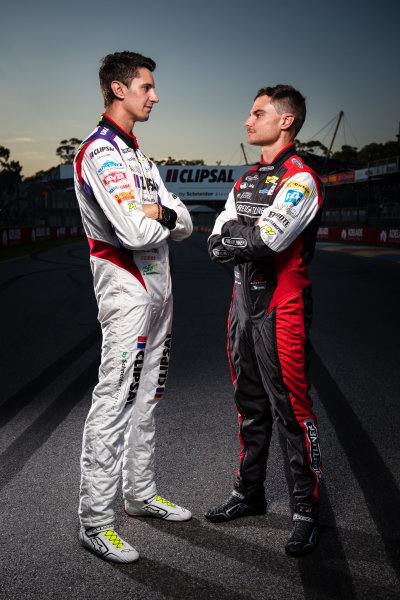 2017 Supercars Championship Round 1.  Clipsal 500, Adelaide, South Australia, Australia. Thursday March 2nd to Sunday March 5th 2017. Nick Percat driver of the #8 Team Clipsal Brad Jones Racing Commodore VF, Tim Slade driver of the #14 Freightliner Racing Holden Commodore VF. World Copyright: Daniel Kalisz/LAT Images Ref: Digital Image 020217_VASCR1_DKIMG_1762.JPG