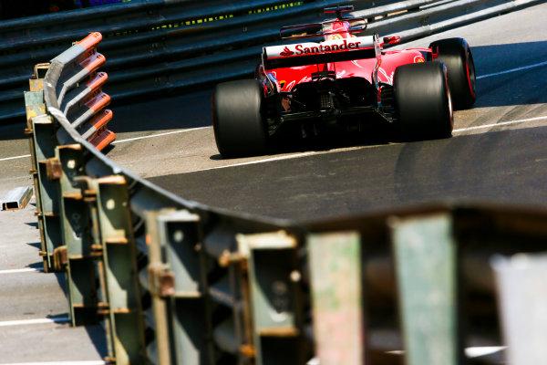 Monte Carlo, Monaco. Thursday 25 May 2017. Sebastian Vettel, Ferrari SF70H. World Copyright: Charles Coates/LAT Images ref: Digital Image AN7T2890