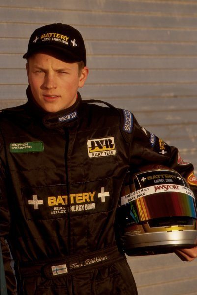 Kimi Raikkonen (FIN) has his first car test. 