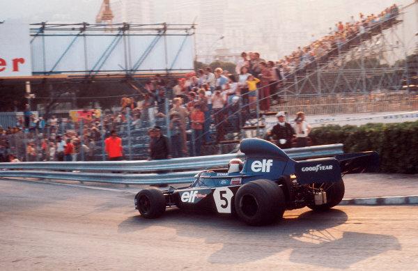 1973 Monaco Grand Prix.Monte Carlo, Monaco.31/5-3/6 1973.Jackie Stewart (Tyrrell 006 Ford) 1st position.Ref-73 MON 57.World Copyright - LAT Photographic