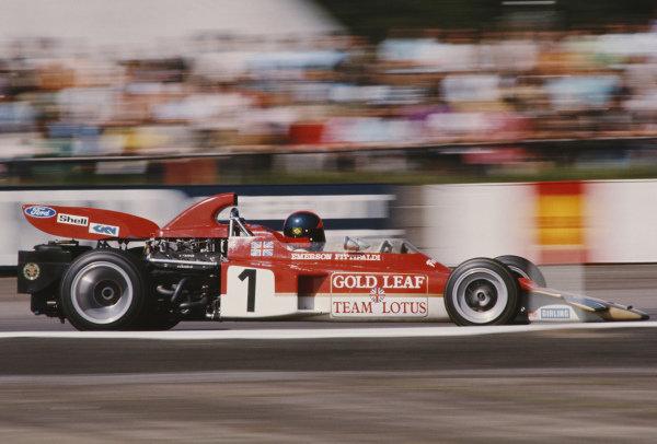 Emerson Fittipaldi, Lotus 72D Ford.