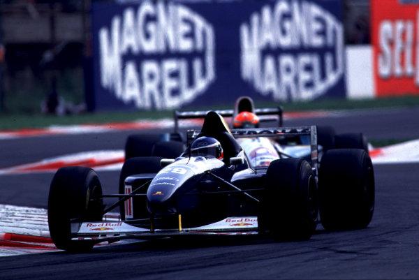 1995 Italian Grand Prix.Monza, Italy.8-10 September 1995.Jean-Christophe Boullion (Sauber C14 Ford) 6th position.World Copyright - LAT Photographic