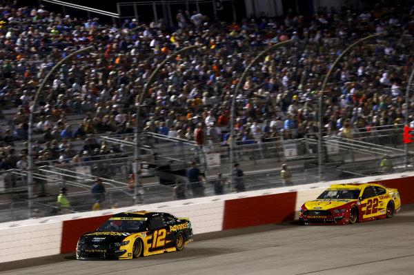 #12: Ryan Blaney, Team Penske, Ford Mustang Advance Auto Parts, #22: Joey Logano, Team Penske, Ford Mustang Shell Pennzoil