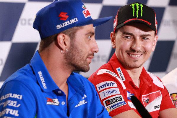 Andrea Iannone, Team Suzuki MotoGP, Jorge Lorenzo, Ducati Team.