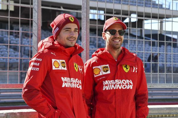 Charles Leclerc, Ferrari, and Sebastian Vettel, Ferrari
