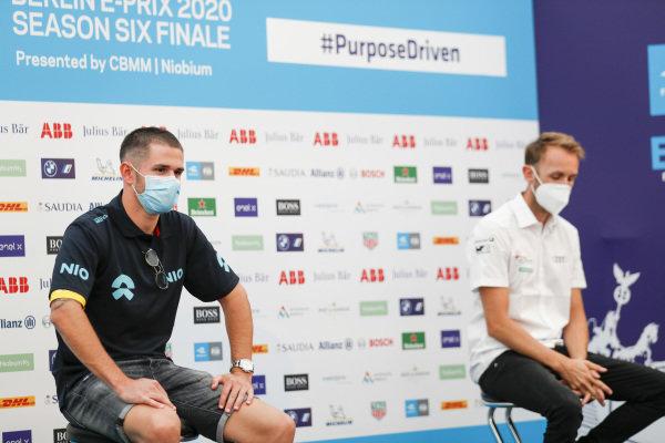 Daniel Abt (DEU), NIO 333, and René Rast (DEU), Audi Sport ABT Schaeffler in the press conference