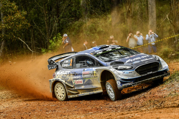 Ott Tanak (EST) / Martin Jarveoja (EST), M-Sport World Rally Team Ford Fiesta WRC at World Rally Championship, Rd13, Rally Australia, Day One, Coffs Harbour, New South Wales, Australia, 17 November 2017.