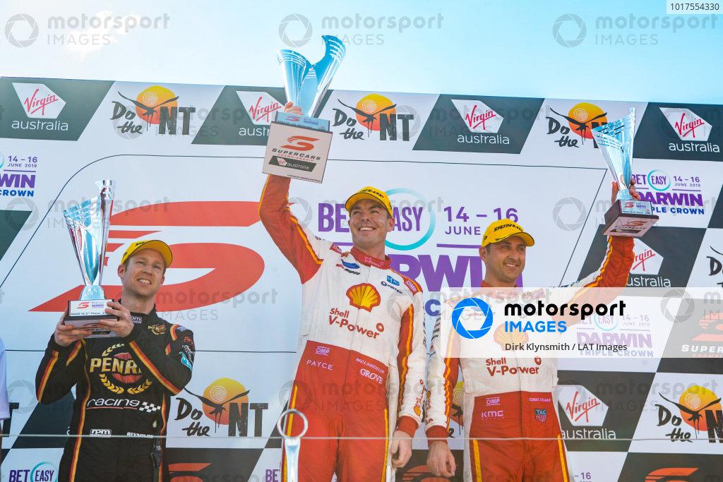 David Reynolds, Erebus Motorsport Holden, Scott McLaughlin, DJR Team Penske Ford, Fabian Coulthard, DJR Team Penske Ford