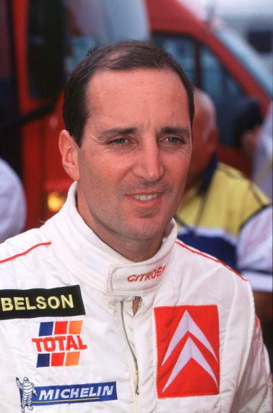 2001 FIA World Rally ChampsRallye de France, Ajaccio, Corsica, 18th-21st October 2001.Jesus Puras, portrait.World Copyright:LAT Photographic/McKlein.ref: 35mm Image A01