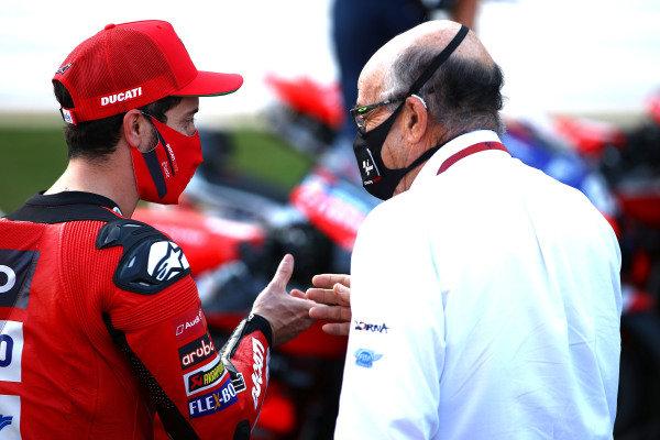 Andrea Dovizioso, Ducati Team, Carmelo Ezpeleta, CEO Dorna Sports