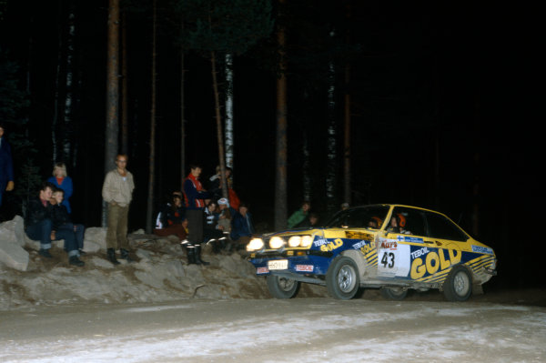 1000 Lakes Rally, Finland. 24-28 August 1979.Juha Kankkunen/Timo Hantunen (Ford Escort RS), 14th position, action.World Copyright: LAT PhotographicRef: Colour Transparency.
