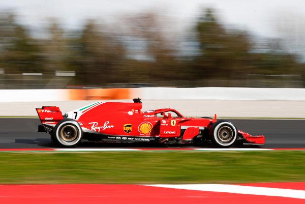 Circuit de Catalunya, Barcelona, Spain. Friday 09 March 2018. Kimi Raikkonen, Ferrari SF71H. World Copyright: Glenn Dunbar/LAT Images ref: Digital Image _31I2598