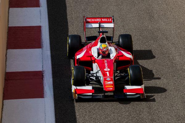 2017 FIA Formula 2 Round 11. Yas Marina Circuit, Abu Dhabi, United Arab Emirates. Friday 24 November 2017. Charles Leclerc (MCO, PREMA Racing).  Photo: Zak Mauger/FIA Formula 2. ref: Digital Image _56I0080