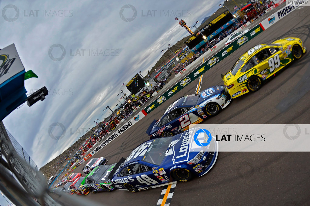 March 1-3, 2013 Avondale, Arizona USA Carl Edwards last restart.(c) 2013, Brian Czobat LAT Photo USA .