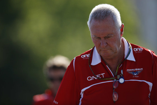 Circuit Gilles Villeneuve, Montreal, Canada. Saturday 7 June 2014. John Booth, Team Principal, Marussia F1. World Copyright: Charles Coates/LAT Photographic. ref: Digital Image _J5R1070