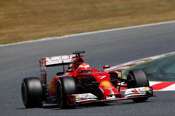 Circuit de Catalunya, Barcelona, Spain. Wednesday 14 May 2014. Kimi Raikkonen, Ferrari F14T. World Copyright: Sam Bloxham/LAT Photographic. ref: Digital Image _SBL0308