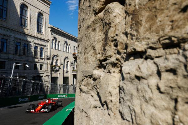 Baku City Circuit, Baku, Azerbaijan. Friday 23 June 2017. Sebastian Vettel, Ferrari SF70H.  World Copyright: Steven Tee/LAT Images ref: Digital Image _R3I2347