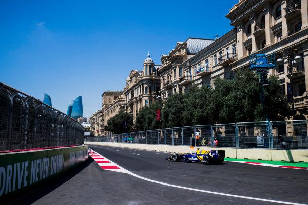 2017 FIA Formula 2 Round 4. Baku City Circuit, Baku, Azerbaijan. Friday 23 June 2017. Oliver Rowland (GBR, DAMS)  Photo: Zak Mauger/FIA Formula 2. ref: Digital Image _54I9549