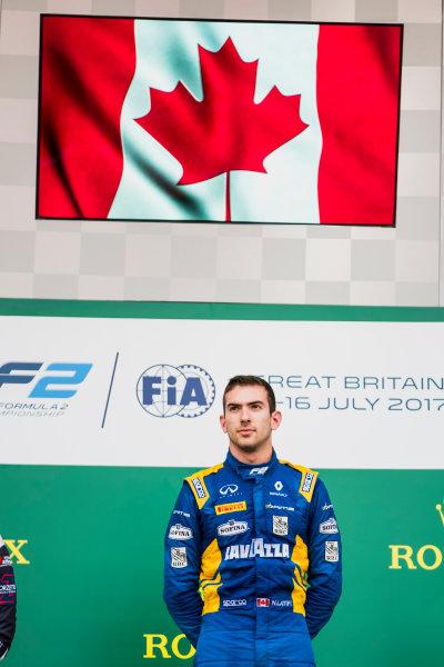 2017 FIA Formula 2 Round 6. Silverstone, Northamptonshire, UK. Sunday 16 July 2017. Nicholas Latifi (CAN, DAMS).  Photo: Zak Mauger/FIA Formula 2. ref: Digital Image _56I0735