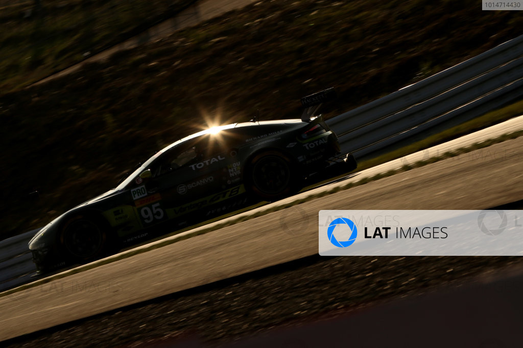 2016 World Endurance Championship, Fuji, Japan. 14th-16th October 2016, Nicki Thiim / Marco Sorensen - Aston Martin Racing Aston Martin Vantage  World copyright. Jakob Ebrey/LAT Photographic
