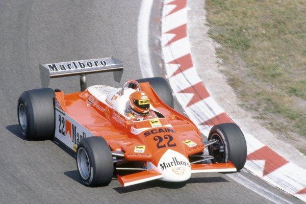 1980 Dutch Grand Prix.Zandvoort, Holland. 29-31 August 1980.Vittorio Brambilla (Alfa Romeo 179B), retired.World Copyright: LAT PhotographicRef: 35mm transparency 80HOL17