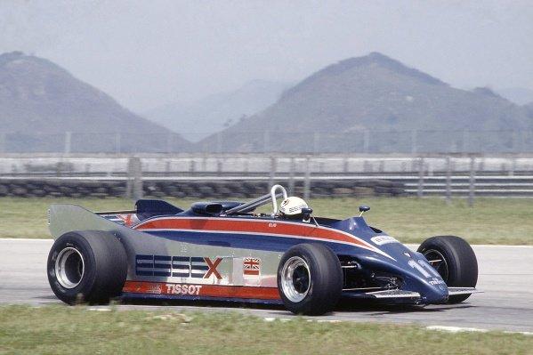 1981 Brazilian Grand Prix.Jacarepagua, Rio de Janeiro, Brazil. 27-29 March 1981.Elio de Angelis (Lotus 88-Ford Cosworth) during practice. The Lotus 88 was banned before qualifying.World Copyright: LAT PhotographicRef: 35mm transparency 81BRA13