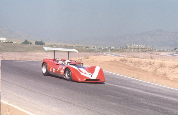 1968 Can-Am Challenge Cup.CanAm race. Riverside, California, United States (USA). 27 October 1968.John Surtees (Lola T160-Chevrolet), retired.World Copyright: LAT PhotographicRef: 35mm transparency 68CANAM09