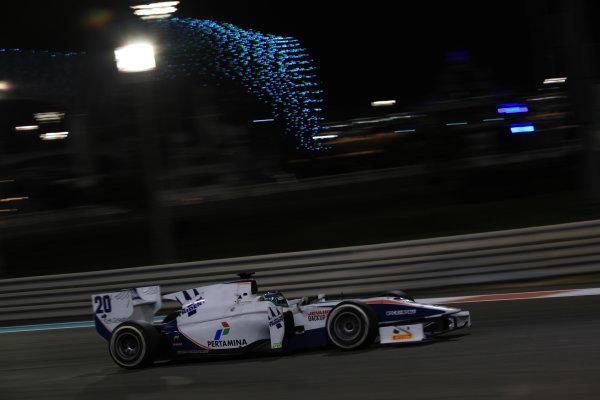 2013 GP2 Series Test 3 Yas Marina Circuit, Abu Dhabi, UAE. Day 3, Thursday 7th November 2013. Giovanni Venturini (ITA, Trident Racing)  World Copyright: Sam Bloxham/LAT Photographic. ref: Digital Image IMG_5920