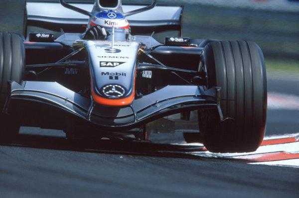 2005 Hungarian Grand Prix. Hungaroring, Hungary. 29th - 31st July 2005 Kimi Raikkonen, McLaren Mercedes MP4-20. Action. World Copyright: Michael Cooper/LAT Photographic Ref: 35mm Image A28