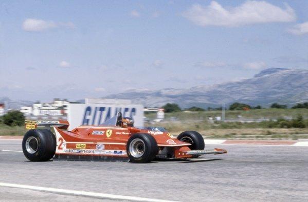 1980 French Grand Prix.Paul Ricard, France. 27-29 June 1980.Gilles Villeneuve (Ferrari 312T5), 8th position.World Copyright: LAT PhotographicRef: 35mm transparency 80FRA23