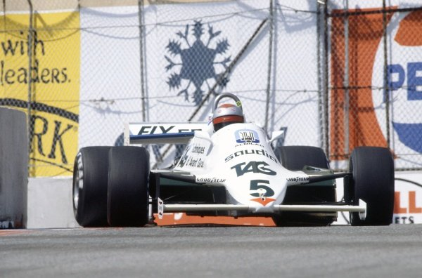 1982 United States Grand Prix West.Long Beach, California, USA. 2-4 April 1982.Mario Andretti (Williams FW07C-Ford Cosworth), retired.World Copyright: LAT PhotographicRef: 35mm transparency 82LB04