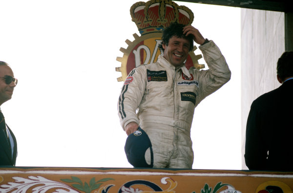 1978 Spanish Grand Prix.Jarama, Spain. 4th June 1978.Mario Andretti on the podium.World Copyright: Murenbeeld/LAT Photographic