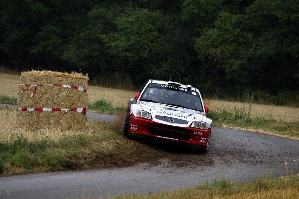 2003 FIA World Rally Champs. Round eight, Deutschland Rally24th-27th July 2003.Freddy Loix, Hyundai, action. World Copyright: McKlein/LAT
