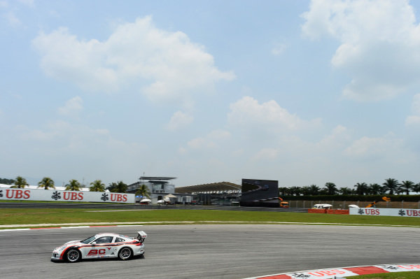 Johnson Huang (TPE) BC Racing Team. Porsche Carrera Cup Asia, Sepang, Malaysia, 28-30 March 2014.