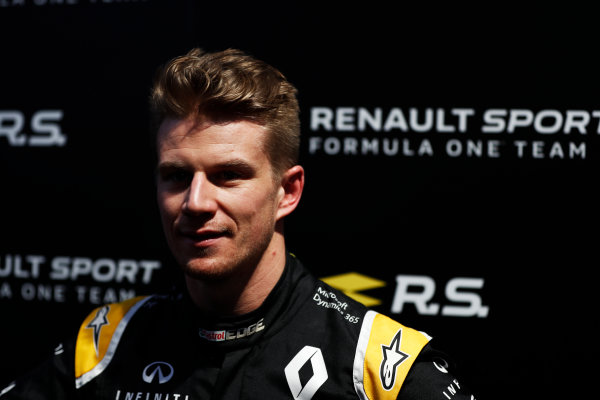 Renault  RS17  Formula 1 Launch. The Lindley Hall, London, UK. Tuesday 21 February 2017. Nico Hulkenberg, Renault Sport F1.  World Copyright: Glenn Dunbar/LAT Images Ref: _X4I0023