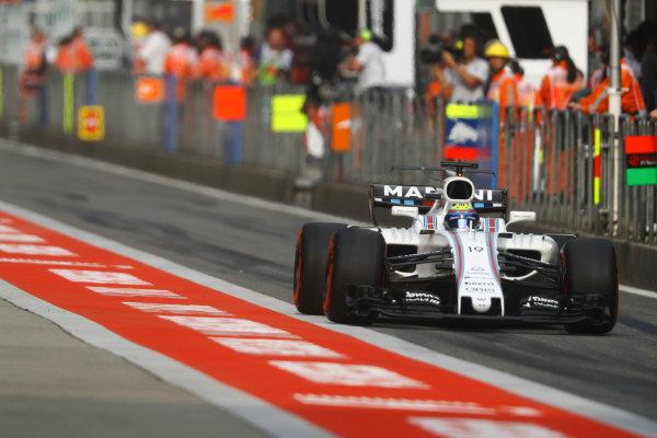 Shanghai International Circuit, Shanghai, China.  Saturday 08 April 2017. Felipe Massa, Williams FW40 Mercedes. World Copyright: Steven Tee/LAT Images ref: Digital Image _O3I4734