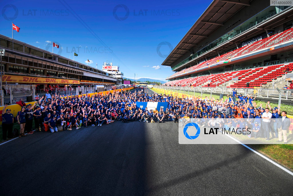 Circuit de Catalunya, Barcelona, Spain. Friday 12 May 2017. Drivers, officials and marshals gather for FIA Volunteers Day, which celebrates the volunteer work of marshals and organisers around the world that make motor racing possible. World Copyright: Steven Tee/LAT Images ref: Digital Image _O3I4297