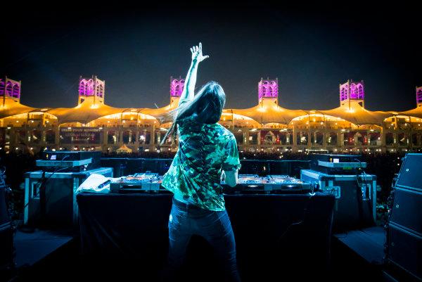 Bahrain International Circuit, Sakhir, Bahrain.  Saturday 15 April 2017. DJ Steve Aoki performs at the F1 concert. World Copyright: Sam Bloxham/LAT Images ref: Digital Image _W6I2039
