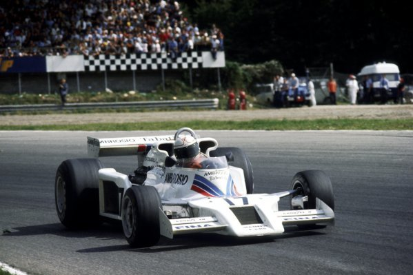 Alan Jones (AUS) Shadow DN8 came fresh from his first GP victory to finish the race in third position. Italian Grand Prix, Rd 14, Monza, Italy, 11 September 1977.BEST IMAGE