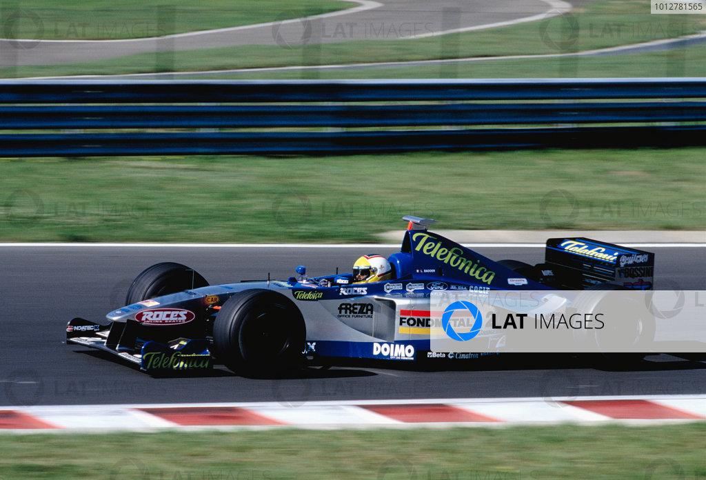 1999 Hungarian Grand Prix.Hungaroring, Budapest, Hungary. 13-15 August 1999.Luca Badoer (Minardi M01 Ford).Ref-99 HUN 87.World Copyright - Gavin Lawrence/LAT Photographic