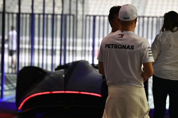 Valtteri Bottas, Mercedes AMG F1 and Mercedes-Benz, EQ Silver Arrow concept car