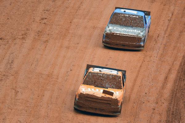 #26: Tyler Ankrum, GMS Racing, Chevrolet Silverado Liuna! and #11: Bubba Wallace, Spencer Davis Racing, Toyota Tundra Columbia Outdoor Clothing