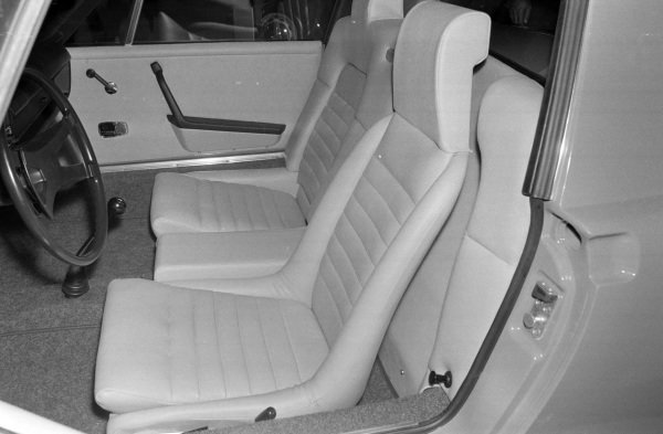 Seating in the Porsche 914.