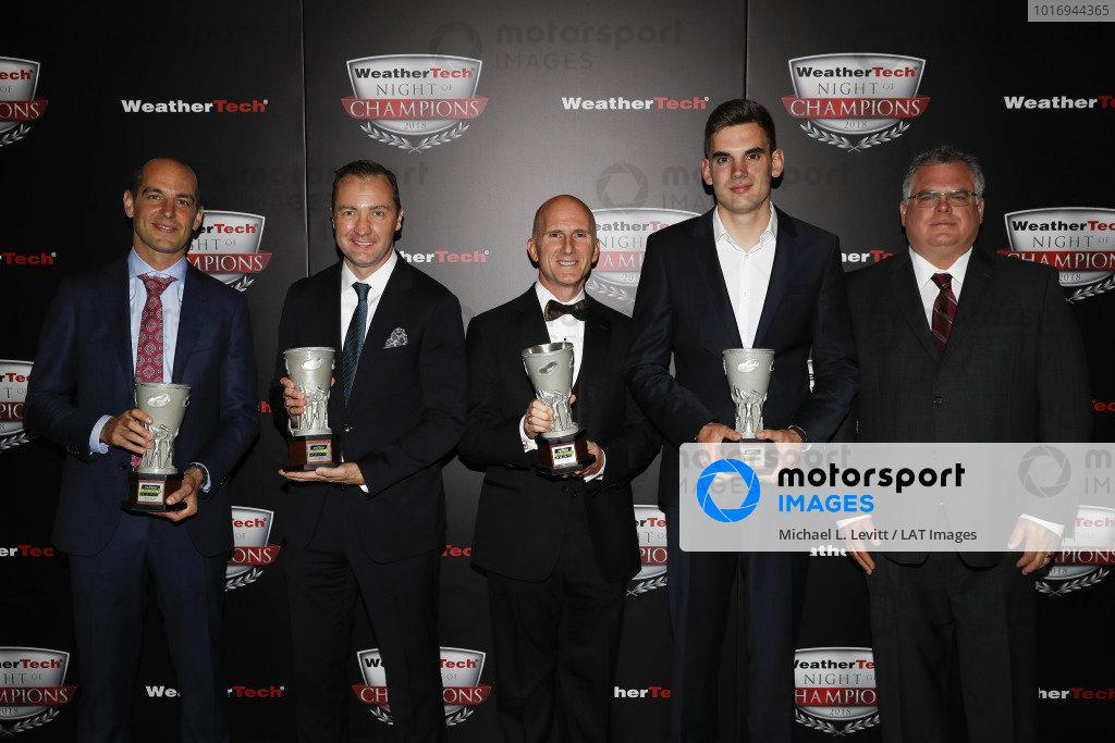 2018 WeatherTech Night of Champions, #33 Riley Motorsports Mercedes AMG GT3, GTD: Jeroen Bleekemolen, Ben Keating, Luca Stolz, TPNAEC, Bill Riley, Rob Moran