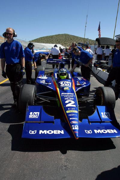 2003 Phoenix IRL IndyCar, 21-23 March 2003; Phoenix International Raceway; Phoenix, Arizona USAJaques Lazier and crew-2003 Lesley Ann Miller, USALAT Photographic