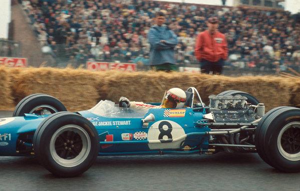 1968 Dutch Grand Prix.Zandvoort, Holland.21-23 June 1968.Jackie Stewart (Matra MS10 Ford) 1st position.Ref-68 HOL 08.World Copyright - LAT Photographic