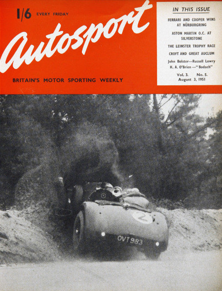 Cover of Autosport magazine, 3rd August 1951