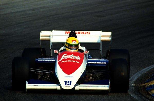 1984 Dutch Grand Prix.Zandvoort, Holland.24-26 August 1984.Ayrton Senna (Toleman TG184 Hart).  Ref: 84HOL16. World Copyright - LAT Photographic