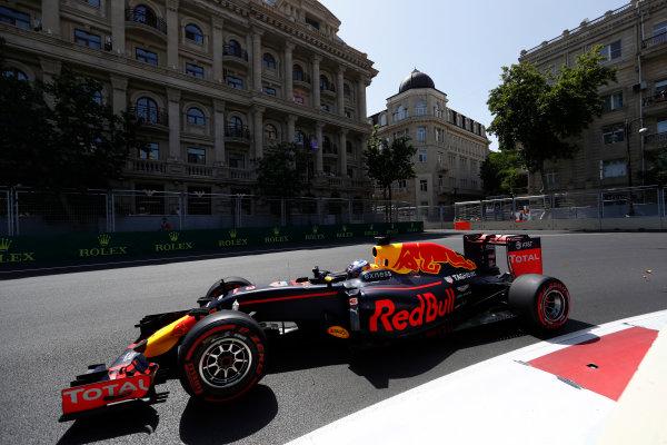 Baku City Circuit, Baku, Azerbaijan. Saturday 18 June 2016. Daniel Ricciardo, Red Bull Racing RB12 TAG Heuer. World Copyright: Glenn Dunbar/LAT Photographic ref: Digital Image _V2I9676