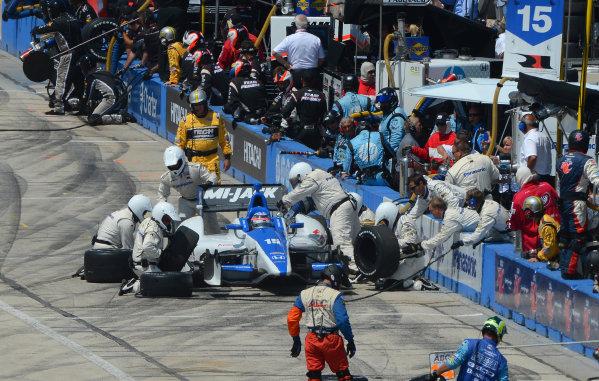 15-16 June, 2012, West Allis, Wisconsin USA#15 Takuma Sato Rahal Letterman Lanigan Racing Honda pitstop(c)2012 Dan R. Boyd LAT Photo USA